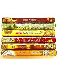 GR Incense Sticks Best Sellers 6ボックスX 20スティック、Variety Pack (# 1 )