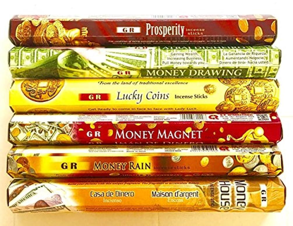 GR Incense Sticks Best Sellers 6ボックスX 20スティック、Variety Pack (# 1 )