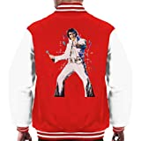 VINTRO Elvis Presley Men's Varsity Jacket Original Portrait by Sidney Maurer Professionally Printed