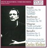 カルロス・クライバー指揮 ハイドン:交響曲第94番「驚愕」、ベートーヴェン:交響曲第7番 ボロディン:交響曲第2番 1972年12月12日ライヴ