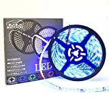 ぶーぶーマテリアル LEDテープ ブルー 青 300連 高輝度 5m 12V 白ベース 防水 IP65 【カーパーツ】