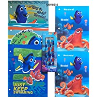 Finding Dory Children's Study Kit Supplies Finding Dory Paper Folders Pack Of 3 & Finding Dory Notebooks Set Of 2 With 6 Pack Pencils