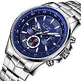 メンズビジネス時計防水時計メンズウォッチTopブランド高級ファッションカジュアルスポーツクォーツ腕時計 ブルー
