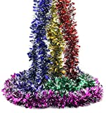 Yinggg パーティーオーナメント クリスマス飾り モール フリフリ ツリー デコレーション 結婚式 忘年会 誕生日 天井飾り 2m 6本セット (6)