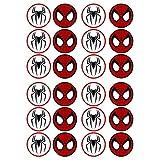 24 Spiderman #2 スパイダーマン#2食用カップケーキトッパー - ウェーハ・カード・ケーキの装飾STAND UP