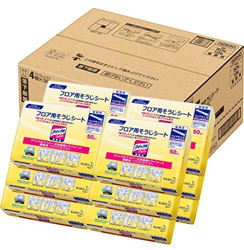 クイックルワイパードライシート業務用 50枚×12パック(花王プロフェッショナルシリーズ)