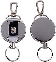 shiYsRL Retractable Anti Lost Theft Keychain Keyring Key Holder Outdoor Camping Tool Medium