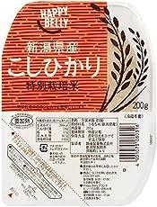 [Amazonブランド]Happy Belly パックご飯 新潟県産 特別栽培米 こしひかり 200g×20個(白米)