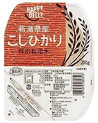 【Amazonオリジナル】Happy Belly パックご飯 新潟県産特別栽培米こしひかり 200g×20個 (白米)