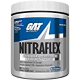 GAT Clinically Tested Nitraflex, Testosterone Enhancing Pre Workout, Blue Raspberry,300 Gram