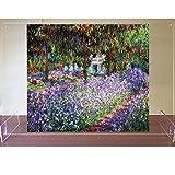 アクリル プレート 絵画 ボストン美術館 収蔵品 クロード・モネ モネの庭のアヤメ
