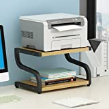 PUNCIA Office Desktop Laser Multifunction Printer Copier Scanner Shelf Stand Rack with Anti - Skid Pads for Desktop Organizer
