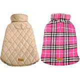 Kuoser Dog Coats Dog Jackets Waterproof Coats for Dogs Windproof Cold Weather Coats Small Medium Large Dog Clothes Reversible