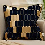 Avigers 18 x 18 Inch Shield Embroidery Velvet Cushion Cover Luxury European Pillow Cases Pillowcase Home Decorative for Sofa