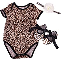 Reborn Baby Doll Leopard Romper Clothes Set for 20-22 Inch Reborns Newborn Girl Dolls Bodysuit Toy