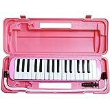 SYMPHA 鍵盤ハーモニカ 32鍵 / 鍵盤 DO RE Mi 凸印タイプ (吹き口 & ホース付属) (ピンク)
