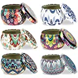 ForUBeauty 6 Pcs Candle Tin Jars DIY Candle Making kit Holder Storage case for Dry Storage Spices, Camping, Party Favors, and