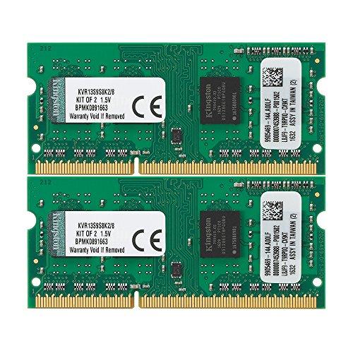 Kingston ノートPC用メモリ DDR3 1333 (PC3-10600) 4GBx2枚 CL9 1.5V Non-ECC SO-DIMM 204pin KVR13S9S8K2/8 永久保証