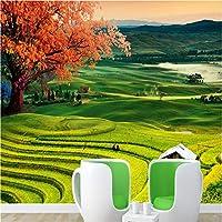 Hxcok カスタム3d秋フィールド自然風景高級品質手描きスタイル壁画装飾リビングルームの装飾ポスターアート壁-400cmX280cm