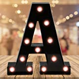 Oycbuzo Light up Letters LED Letter Black Alphabet Letter Night Lights for Home Bar Festival Birthday Party Wedding Decorativ