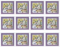 Sandy Mertensイースターヴィンテージ–Easter Rabbit Artist–グリーティングカード Set of 12 Greeting Cards