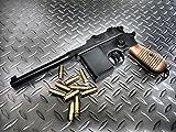 マルシン工業 モデルガン 完成品 プラグファイアーカートリッジ式ブローバック モーゼル M712 ブラックABS