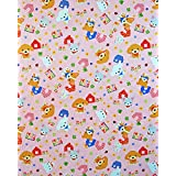 お昼寝布団カバー 80×145 cm 80 145 サイズオーダー 保育園 綿 ホック 柄番100ピンク