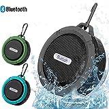 Patech Bluetooth 3.0 ワイヤレススピーカー 内蔵マイク付 吸盤式対応 防水仕様 (グリーン)