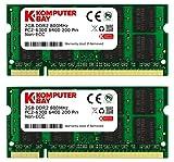 Komputerbay 日本進出記念 メモリ 2枚組 DDR2 800MHz PC2-6400 2GBX2 DUAL 200pin SODIMM ノート パソコン用 増設メモリ 2GB デュアル