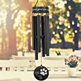 ASTARIN Pet Memorial Wind Chime, 30 Inches Paw Print Pet Remembrance Gift to Honor and Remember a Dog, Cat, or Other Pet, Pre