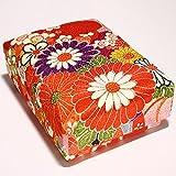 アクセサリーや印鑑など小物の整理収納に ちりめん文庫箱(小)赤