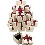 iikuru ギフトボックス アクセサリー ラッピング ラッピングボックス リボン 箱 パッケージ プレゼント 包装 贈り物 24個セット y172