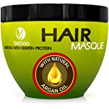 Bellisso Moroccan Argan Oil Hair Mask Deep Conditioner Sulfate Free for Dry or Damaged Hair with Jojoba Kernel Oil Aloe Vera