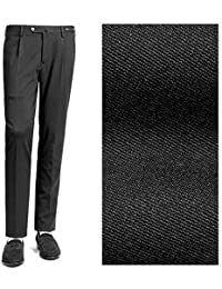 PT01 ピーティーゼロウーノ / 【国内正規品】 18-19AW!ストレッチテクノジャージー1プリーツパンツ『TRAVELLER(EVO FIT)』 (ブラック) メンズ