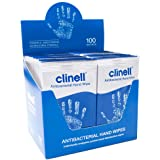 Clinell Antibacterial Hand Wipes - Dermatologically Tested - 100 Individual Sachets
