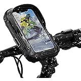 自転車 スマホホルダー 防水 ロードバイク スタンド 収納可能 iphone 自転車用ホルダー 遮光 耐震 360度回転 バイク用スマホホルダーiPhone Android 多機種 画面6.0インチまでのスマホに対応 防水バッグ バイク スクーター