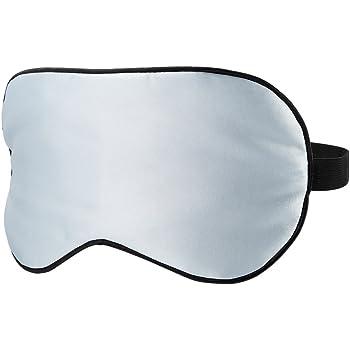 PLEMO 睡眠アイマスク 軽量・究極の柔らかシルク質感 超ソフト 横向き寝 短時間睡眠 快眠 睡眠 旅行に最適 (ブルー, ポリエステル)
