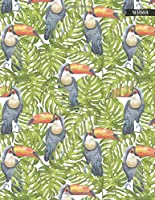 Notebook: Tropical Toucans Tropical Summer Journal for Girls and Women - 8.5x11 Large Lined Diary for Writing Journaling School or Work