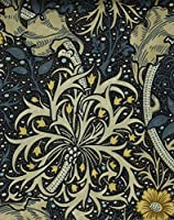 ウィリアムモリス おしゃれな プリント生地 kiji-morrisseaweed(IO) (224470) 【 約139cm幅×100cm 】 輸入 ファブリック 海外 import クラフト 布 生地 北欧調 アンテーク調 William Morris 植物 花柄 フラワー柄 モリス シーウィード リーフ コットン100% 綿100% ダークブルー 青 blue