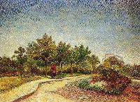 手描き-キャンバスの油絵 - Lane in Voyer d Argenson Park at Asnieres フィンセント・ファン・ゴッホ 芸術 作品 洋画 ウォールアートデコレーション VVG5 -サイズ13