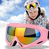 JTENG 子供用 スキーゴーグル スノーボードゴーグル UV400 紫外線カッ 防風/防雪/防塵 山登り/スキーなど用 男女兼用