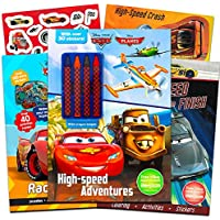 ingramcontent Disney Cars Ultimate Coloring Book Set – - 3デラックスCarsアクティビティブックwith over 80ステッカーandクレヨン( Disney Cars Books for Toddlers Kids ) 3 Books (Super Set) Disney Cars Books