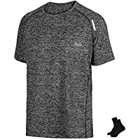 Lifinais スポーツウェア Tシャツ メンズ 半袖 スポーツシャツ 吸汗速乾 通気性 反射素材デザイン 抗菌 防臭
