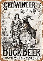 ボックビール 金属スズヴィンテージ安全標識警告サインディスプレイボードスズサインポスター看板建設現場通りの学校のバーに適した