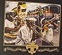 New Orleans Jazz Crawfish Sambola新しいOrleans Cajunアート