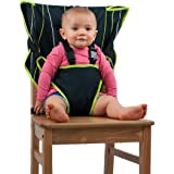 Cozy Cover Easy Seat Portable High Chair (Black) - Quick, Easy, Convenient Cloth Travel High Chair Fits in Your Hand Bag for