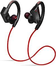 Amendo ブルートゥース イヤホン Hi-Fi高音質 Bluetooth4.1 連続12時間音楽再生 日本語説明書付き レッド