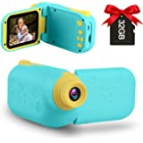 GKTZ Kids Video Camera Camcorder Digital Childrens Toys DV Cameras Recorder with 2.4 inch 1080P FHD Screen for Age 3-10 Year