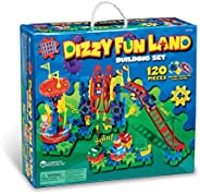 Learning Resources LER9199 Gears! Dizzy Fun Land Motorized Gears Set 120 Pieces