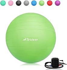Trideer バランスボール45/55/65/75cm(八色)厚い トレーニングボール 高品質 アンチバースト 滑り止め ヨガボール フットポンプ付き 筋トレストレッチ ヨガ 椅子
